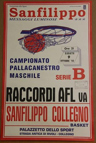 Manifesto Collegno Basket vs. Varese - Serie B Maschile