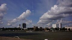 Kop van Zuid Rotterdam 24-8-2014 (Walter van Ooijen) Tags: city sky cloud water clouds licht rotterdam cloudy sony wolken sigma lucht maas kopvanzuid euromast erasmusbrug wolk wilhelminakade derotterdam wolkenlucht weatherphotography sigma18250mm