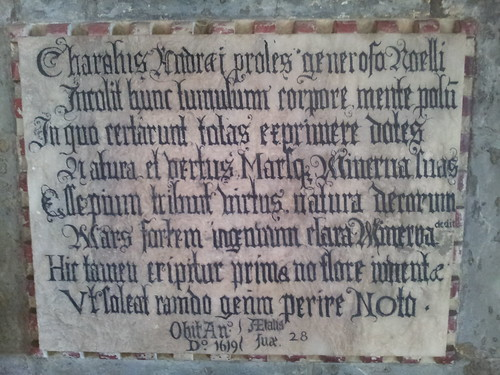 Inscription on the tomb of Charles Noel