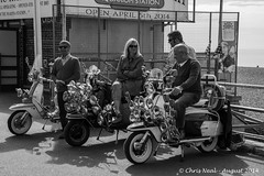 Aquarium Station (Mod Weekender) 24.08.2014 (CNThings) Tags: beach station bristol sussex aquarium mirror nikon mod brighton hove railway scooter lambretta headlamp mods chrisneal d7100 modweekender cnthings