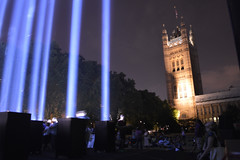 Spectra and tower (Matt From London) Tags: light westminster wwi housesofparliament spectra beams victoriatower ryojiikeda