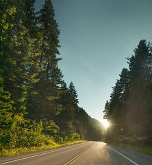 Crowsnest Sunset (Sadi Santos Photography) Tags: road travel trees sunset canada nikon driving britishcolumbia hwy crowsnest traveling d700