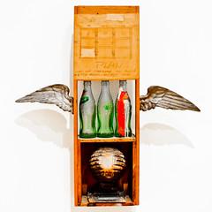 Fly Me a Coke (Thomas Hawk) Tags: california sculpture usa museum losangeles unitedstates unitedstatesofamerica cocacola robertrauschenberg moca rauschenberg museumofcontemporaryartlosangeles paintingwithgreywing