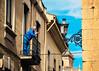 Blue Cigarette (Walimai.photo) Tags: blue sky azul nikon farola streetlamp cigarette candid balcony cielo balcón 18105 cigarrillo robado d7000