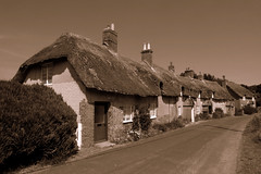 Old English Cottages (www.jamesgreigphotographer.com) Tags: leica sepia dorset lawrenceofarabia moreton oldenglishcottages