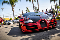 Veyron. (deano458) Tags: ca red usa black sport bug french design la us paint pattern ss grand exotic german bugatti rare decals supercar veyron paintjob supersport hypercar