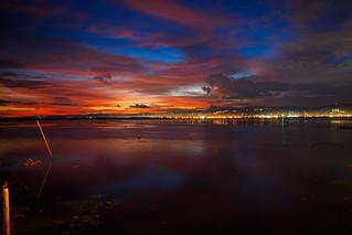 Impressive sunset from Lantaw Floating Native, Cebu