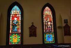 Stained glass windows - Church of the Immaculate Conception (elnina999) Tags: old roof vatican building history church architecture buildings religious hall worship quiet tn knoxville interior prayer religion pray paintings culture statues peaceful stjohns chapel indoor stainedglass landmark ceiling historic christian h nave dome sacred christianity spirituality vaulted ornate spiritual range johns carvings colony churchinterior churchoftheimmaculateconception colorfulglass nikond5100 woodenmedallions