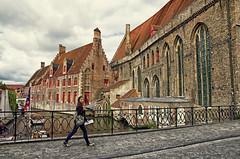 Hey girl, I got you. Bruges, Belgium August 2014 (Smo_Q) Tags: girl architecture pretty slim belgium belgique brugge bruges brgge  brugia    pentaxk5
