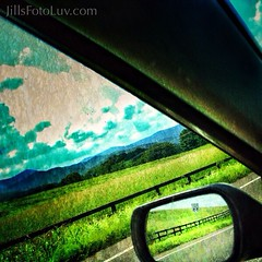 Road Trip! (jillsfotoluv) Tags: road trip travel summer vacation sky mountains reflection car mirror escape backroads