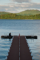 Summer Evening. Water. Book (Kike's) Tags: uk lago scotland nikon escocia loch trossachs reinounido lommond d80