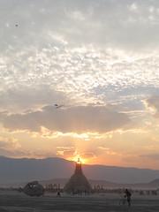 Temple at Sunset (666isMONEY   & ) Tags: man burning 2014 bm2014 burningman2014