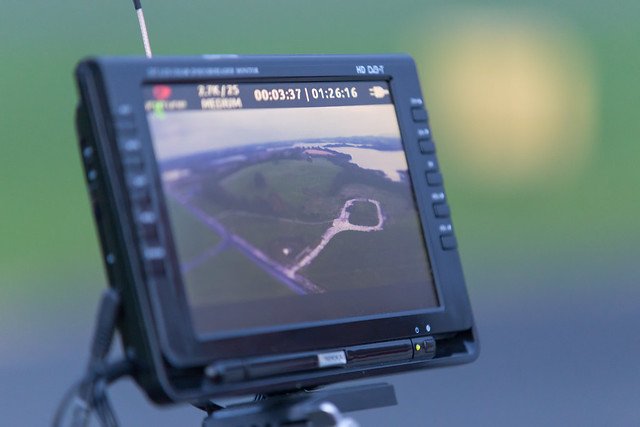 Phil's DJI Phantom with the screen displaying what the GoPro is seeing. Good view!