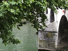 Fluid (anna.walters8) Tags: bridge plant paris tree brick green water river ancient vibrant fluid waterway overhang