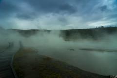 Firehole Lake & Geyser stream (Man_K5) Tags: usa hot landscape volcano nationalpark spring wideangle yellowstone wyoming geyser ge pentaxda1224 pentaxk5