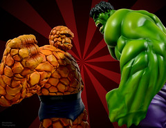 The Hulk meets The Thing (Blindzider) Tags: four fantastic ben thing bruce banner bowen hulk marvel grimm