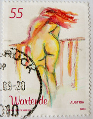 great stamp Austria 55c 0.55 (Wartende (waiter) erotic act, painting by Silvia Gredenberg) postage timbre Autriche selo sello francobollo Austria    postzegel Oostenrijk   frimrker strig markica Austrija   55c (thx for sending stamps :) stampolina) Tags: ladies portrait woman hot sexy sex lady female postes painting naked nude austria sterreich model women erotic akt drawing stamps retrato kunst portrt nackt stamp porto frau nudity timbre postage franco autriche  stempel revenue frauen vis selo erotik marka  sello sellos sterrike briefmarken sexygirl pulu  briefmarke eroticart francobollo selos timbreposte bollo    aktmalerei weiblicherakt  estampill odl  bollato postapulu yupio silviagredenberg