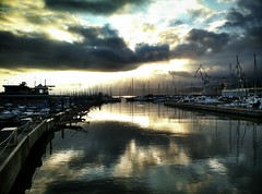 Genova - Marina Airport 1 (color) (tjshot) Tags: camera sea italy color colour reflection water colors mobile port marina docks vintage reflections boats one 1 boat dock europe italia mood colours phone liguria cell front tones camogli tone oneplus snapseed