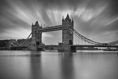 London Tower Bridge BW (Paul O'B) Tags: uk longexposure bridge bw london tower le offshoot paulobrien