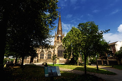 Rotherham Minster - Lens Test (Darren Flinders) Tags: trees sky lens town yorkshire wideangle tokina rotherham southyorkshire colorefexpro rotherhamminster nikcollection