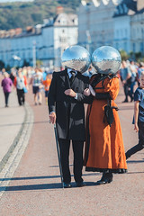 Disco Victoria (Roj) Tags: uk orange wales seaside victorian northshore promenade llandudno glitterball northwales artfestival gogleddcymru canon5dmkii canonef70200mmf28isiiusm originalphotographer photographersontumblr llawn02