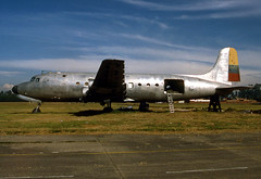 Madrid AFB DC-4 FAC691 29Sep94 (Peter M Garwood) Tags: madrid colombia decay aircraft s scrapyard douglas dc4 stored propliner skytruck fac691