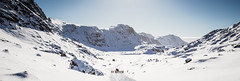 Dog sled in Greenland (bredsig) Tags: greenland sisimiut dog dogsled sled sleddog snow white gl wide landscape animal cold ride mountain small perspective
