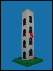 Shot Tower (Karf Oohlu) Tags: lego moc microscale building shottower architecture