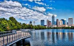 Town Lake Boardwalk, Austin TX (sbmeaper1) Tags: hdr austin townlake skyline clouds boardwalk