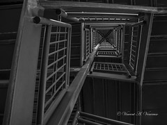 The Noriega Helix (Visions by Vincent) Tags: helix blackwhite stairway geometric greatphotographers yborcity