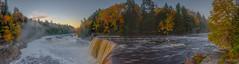 Tahquamenon Falls (2016-10-19 8222) (bechtelsf) Tags: tahquamenonfalls michign michigan upperpeninsula waterfall morning fog river water fall autumn leaves fallcolor nikon d810
