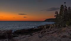 Acadia Sunrise (AnitaErdmann) Tags: 2015 anitaerdmann autumn fall october maine sunrise sunset outdoor acadia mtdesertisland acadianationalpark ocean beach nikon d750 otterpoint oceanpath barharbor