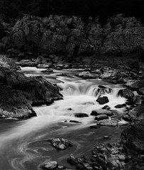 Waterfall (CU TEO MD) Tags: bw blackandwhite waterfall water fallingwater rocks park ngc twop artofimages simplysuperb