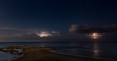 Seascape with thunderstorm (vitas delta pi) Tags: sea lightning stars coast landscape seascape stormscape rain night canon september 20 2016 6d tokina 1628 f28