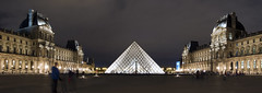 NH0A4457s (michael.soukup) Tags: paris france francais louvre museum pyramid night dusk bluehour musee palace