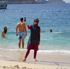 Kaputas burkini selfie (chericbaker) Tags: kaputas beach burkini selfie