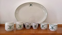 NZ Army Plate, condiments & egg cups (its-mrb) Tags: vitrified crownlynn eggcups saltpeppershakers saladplate nzdefenceforce nzarmy