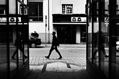 (formwandlah) Tags: kaiserslautern sunny day winter street photography streetphotography silhouette silhouettes silhouetten shadow schatten dark noir urban candid city strange gloomy cold sureal bizarr skurril abstract abstrakt melancholic melancholisch darkness light bw blackwhite black white sw monochrom high contrast ricoh gr pentax formwandlah thorsten prinz licht shadows fear paranoia einfarbig schwarzer hintergrund nacht fotorahmen spiegelung reflection reflektion schrfentiefe brgersteig