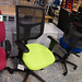 Meshed back swivel chair