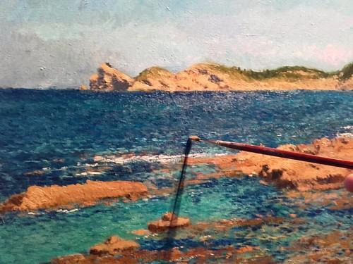 Pintando el Cabo de San Martín de Jávea. Un lugar con bonitos recuerdos.  #cuadros #arte #paintings #landscape #xabia #javea #artista #paisajes