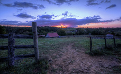 This Morning On The Foothills (It's my whole damn raison d'etre) Tags: field farm sunrise dawn magic hour fence clouds pink blue green red loudoun county leesburg va virginia nikon d800e hdr alex erkiletian