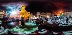 Marienplatz - Philipp Geist (genelabo) Tags: weilheim licht kunst festival marienplatz philippgeist videogeist projektion projection dia video light 2016 bunt colourful event outdoor night nacht videoinstallation lichtkunst videomapping ricoh theta 360