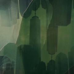 """""""The Underneath"""" (anniebee) Tags: polaroidweek roidweek autumnpolaroidweek polaroidweek2016 polaroid instantfilm expiredpolaroidfilm fadetoblackfilm polaroidsx70 nyc freedom tower"""