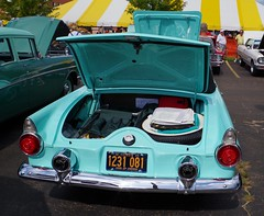 "In ""Thunderbird Blue"" (ilgunmkr - Thanks for 5,000,000+ Views) Tags: carshow amboyillinois 2016 ford thunderbird 1955 1955thunderbird yblock thunderbirdblue"