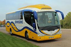 Johnsons, Henley-in-Arden YT09 FLR, Scania K-series in Cheltenham (majorcatransport) Tags: warwickshirebuses johnsonshenleyinarden scania irizar scaniakseries cheltenham