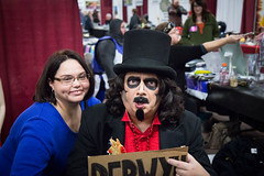 nathalie and svengoolie. november 2016 (timp37) Tags: sign nat nathalie november 2016 illinois svengoolie berwyn chicago pop culture con convention st charles