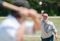 Vintage Baseball Pitch (AndrewCline) Tags: vintage baseball old fashioned oldtime pitcher batter maine reenactor reenactment history