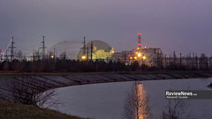 GOV42843 (avgusew) Tags: chernobyl disaster plant nuclear object power arch shelter reactor sarcophagus energy landscape view building construction air photo over station safe explosion aerial infrastructure fourth ukrainian atomic catastrophe tragedy pant confinement anniversary april ukraine kiev 2016 radiation radioactive