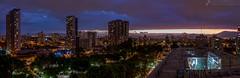 Parque Almagro Post Puesta de Sol (javier_carras) Tags: pentax panoramic k3 night citylights skyline colors tungsten park horizon pentaxsmc beautiful santiago chile arquitectura cityscape sunset