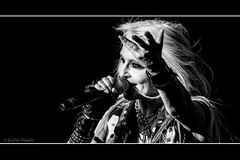 Shine On... (jayem.visuals) Tags: blackwhite blackandwhite concert doro doropesch female livemusic metal music musician people portrait rock singer women ©jayemvisuals ©juergenmaeurer